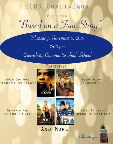 BASED ON A TRUE STORY CHAUTAUQUA <br />5th November 2015