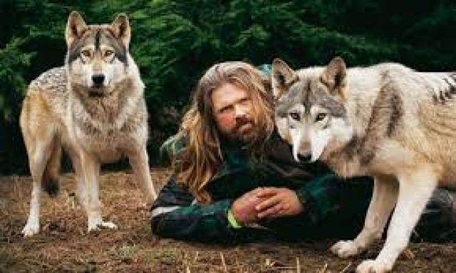 WOLF MAN SHAUN ELLIS BRINGING WOLVES TO DARTMOOR ZOO 19th March 2014